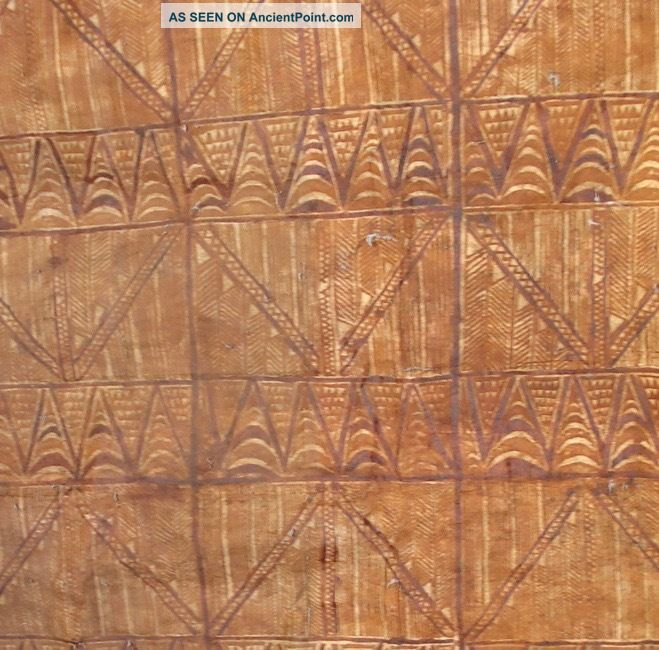 Vintage Tapa Cloth,  Siapo,  From Samoa.  2 Pacific Islands & Oceania photo