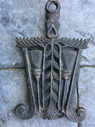 Antique Iron Trivet 9