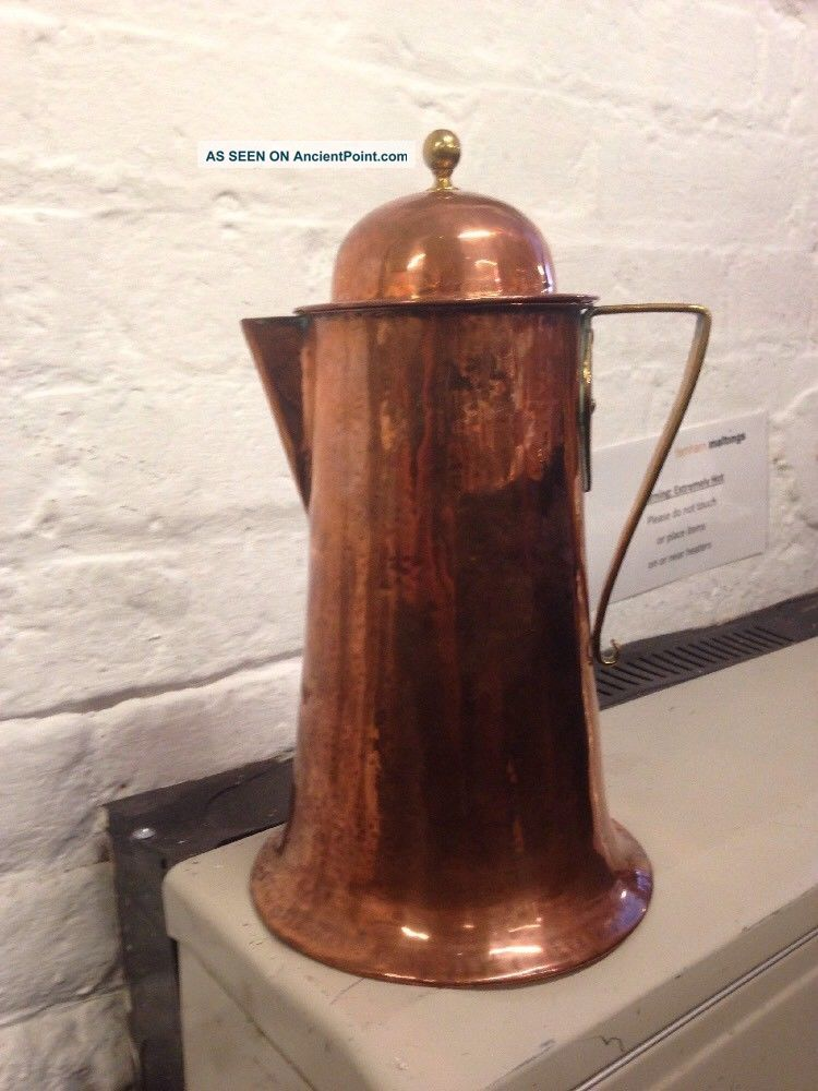 Arts & Crafts Birmingham Guild Of Handicraft Copper Ewer Jug C1900 Arts & Crafts Movement photo