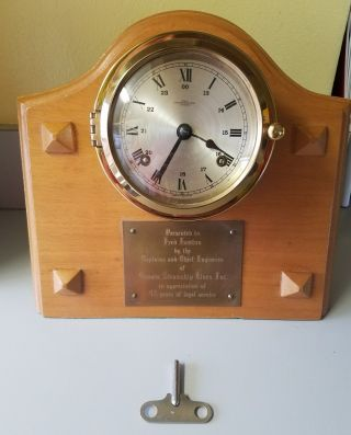 Key Run Wempe Chronometerwerke Brass Ships Bell 24hr Clock Off Canada Steamship photo