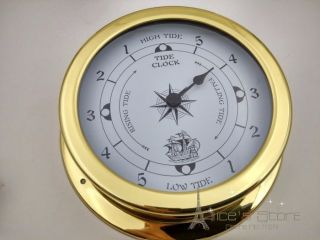 1pcs 115mm Brass Case Traditional Tide Clock photo