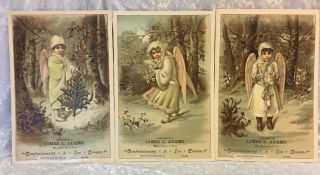 Three Vintage Victorian Advertisments James L.  Adams Confectionery Chicago Il photo