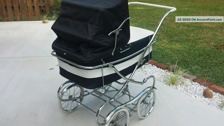 Thayer Vintage Mid Century Antique Thayer Baby Carriage Stroller Pram Doll Buggy Baby Carriages & Buggies photo
