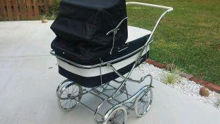 Thayer Vintage Mid Century Antique Thayer Baby Carriage Stroller Pram Doll Buggy photo