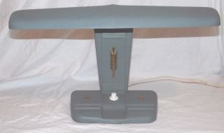 Vtg Industrial Modern Metal Draft Desk Lamp Art Deco Aviator Airplane Style photo