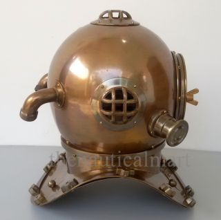 Vintage Antique Diving Divers Helmet Solid Steel U.  S Navy Mark V Full Size 18
