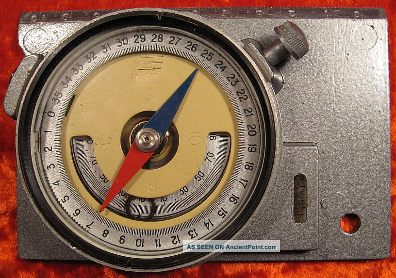 Mountain Surveying Compass Soviet Ussr Russian Professional,  Case 1970 ' S Compasses photo