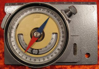 Mountain Surveying Compass Soviet Ussr Russian Professional,  Case 1970 ' S photo