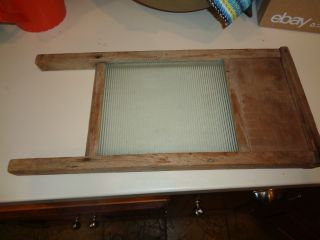 Vintage Victory Glass Laundry Wash Board 18 Inch photo