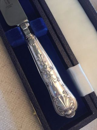 Vintage English Sterling Silver Handle Bridal Knife Orig Presentation Box Kings photo