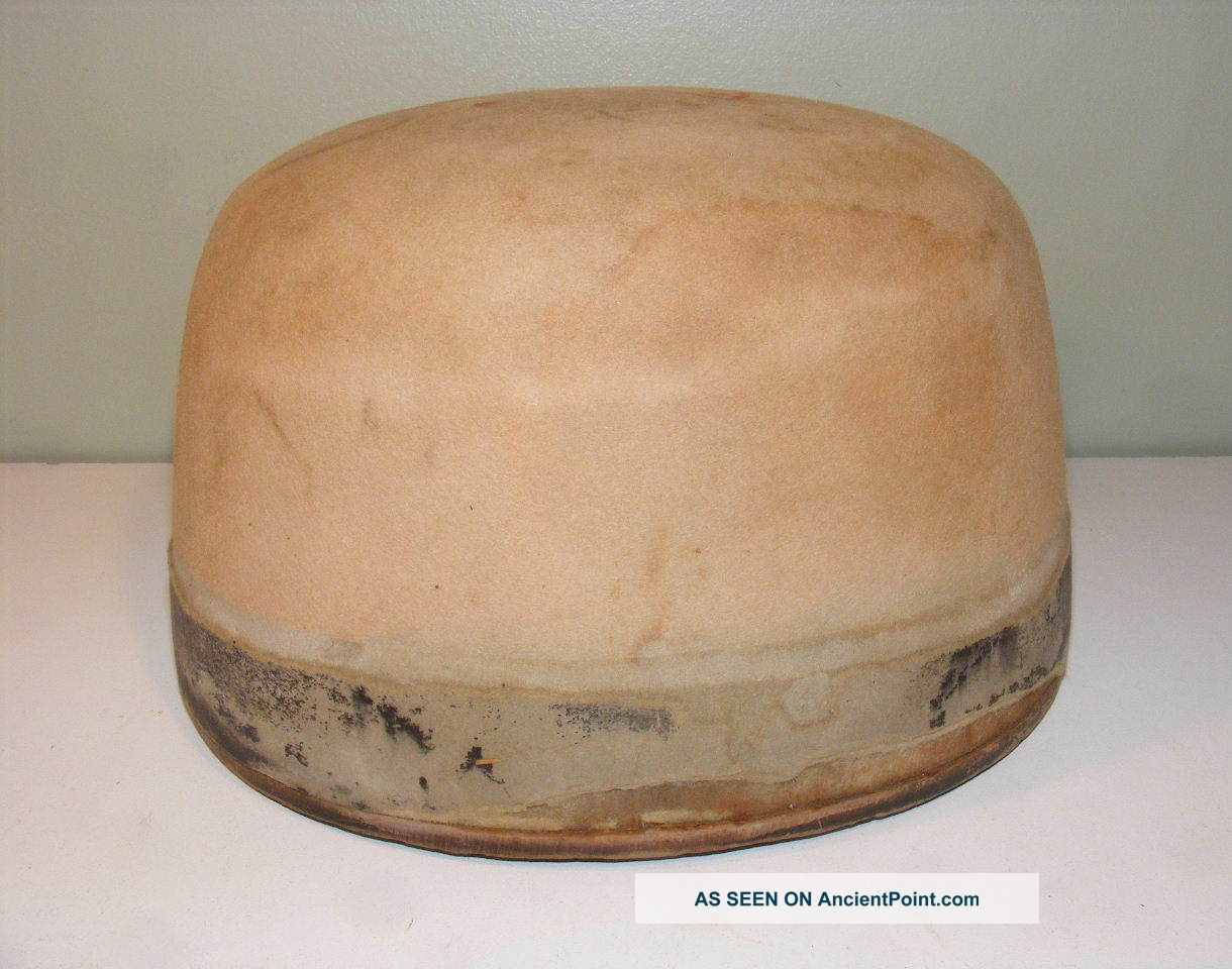 Antique Millinery Wood Hat Block Mold Size 7 - 5/8 Industrial Molds photo