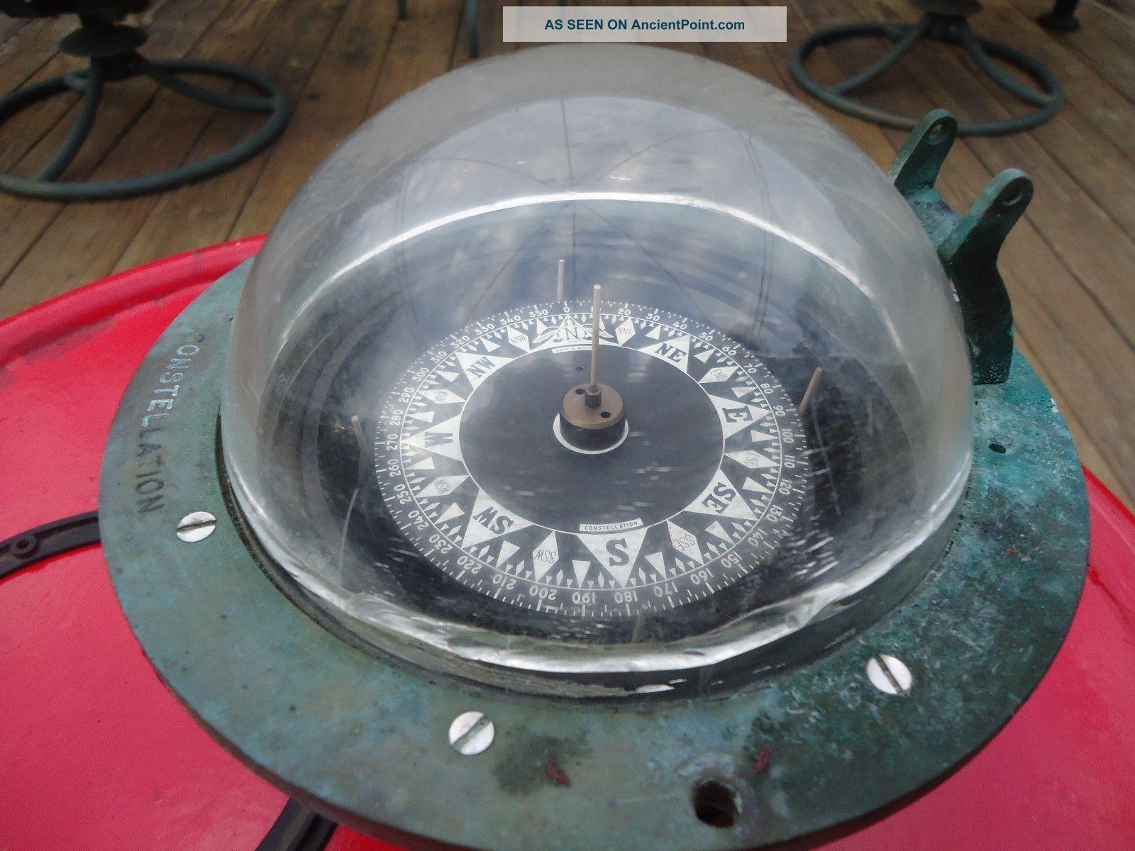 Vintage Brass Kelvin White Constellation Compass 5