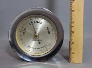 Vintage Seth Thomas Chrome Maritime Corsair Compensated Ships Barometer,  Nr photo