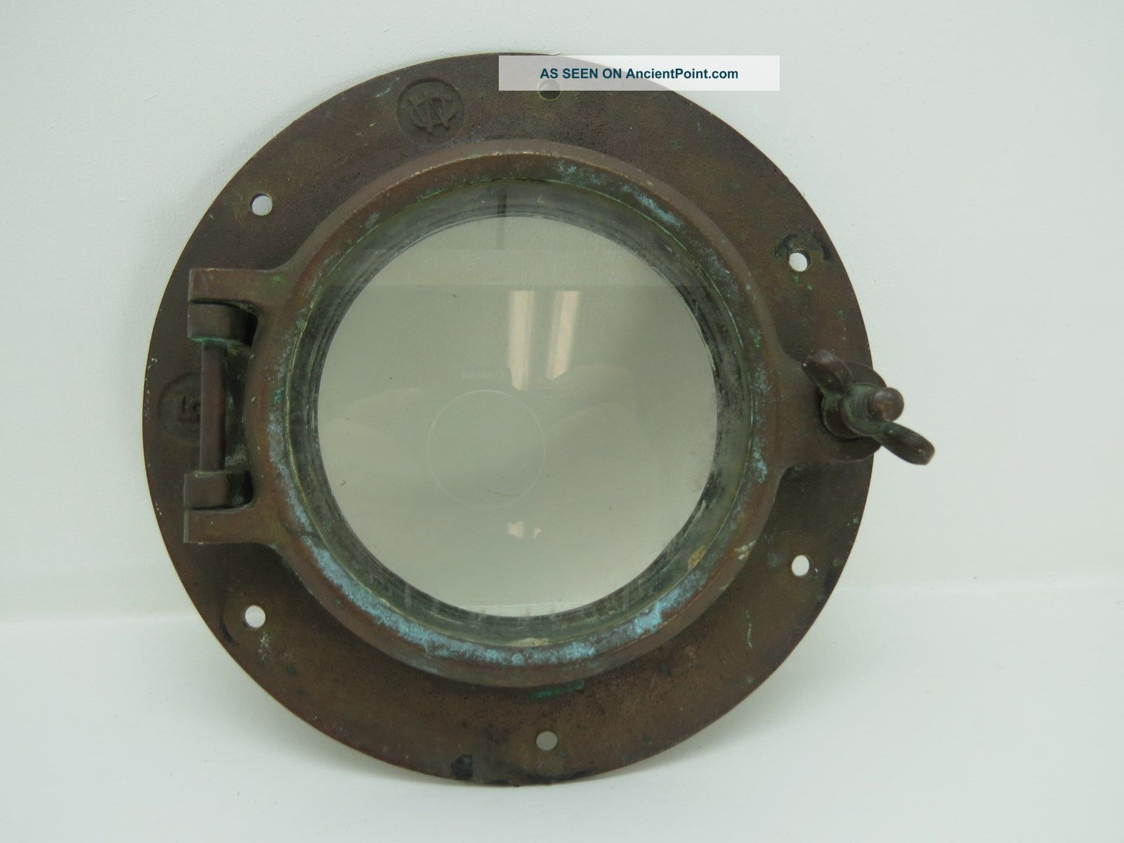 5 Inch Wilcox Critttenden Bronze Port Hole Frame Light Port Ship Boat (1729) Portholes photo