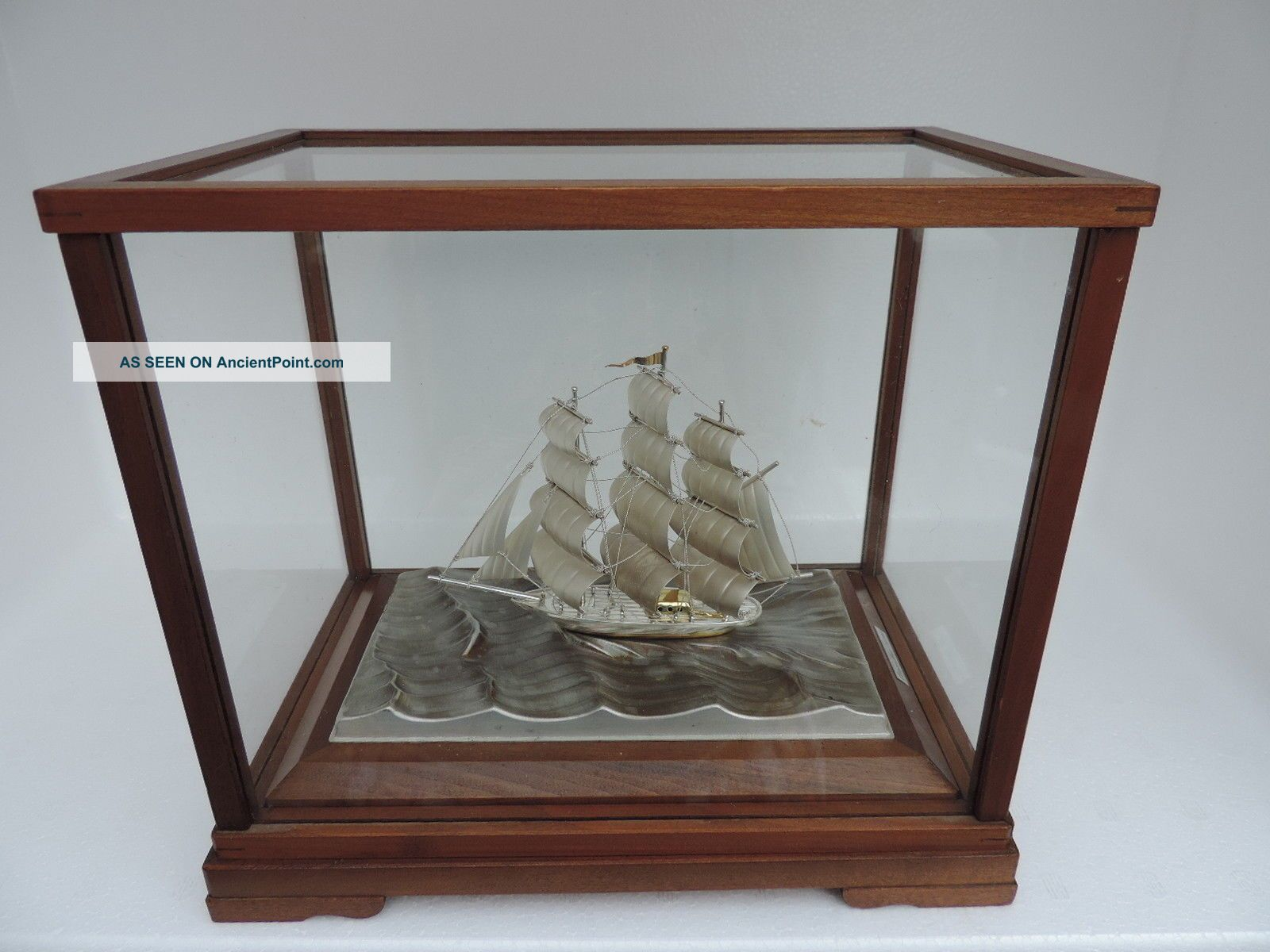 Finest Signed Japanese 3 Masted Sterling Silver 985 Clipper Ship Takehiko Japan Other Antique Sterling Silver photo