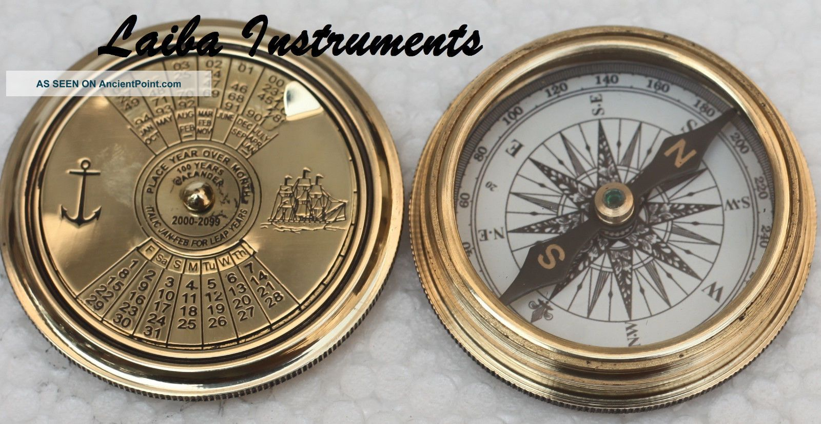 Vintage Nautical Pocket Brass Compass Poem Compass Marine Compass Compas Compasses photo